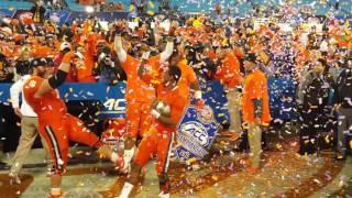 TigerNet.com - 2015 ACC Championship trophy presentation to Clemson