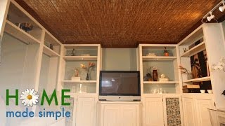A Clever Design Trick for Hiding Ugly Popcorn Ceilings | Home Made Simple | Oprah Winfrey Network