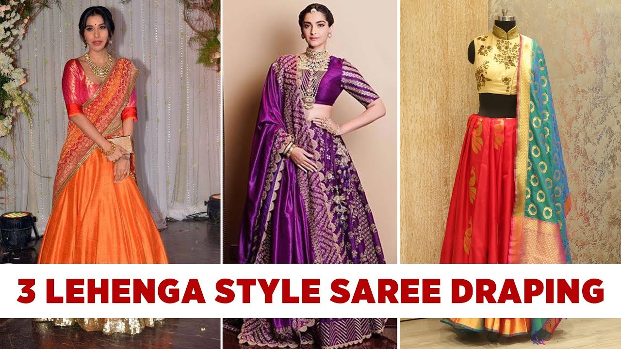2019 year look- How to half wear saree type sarees