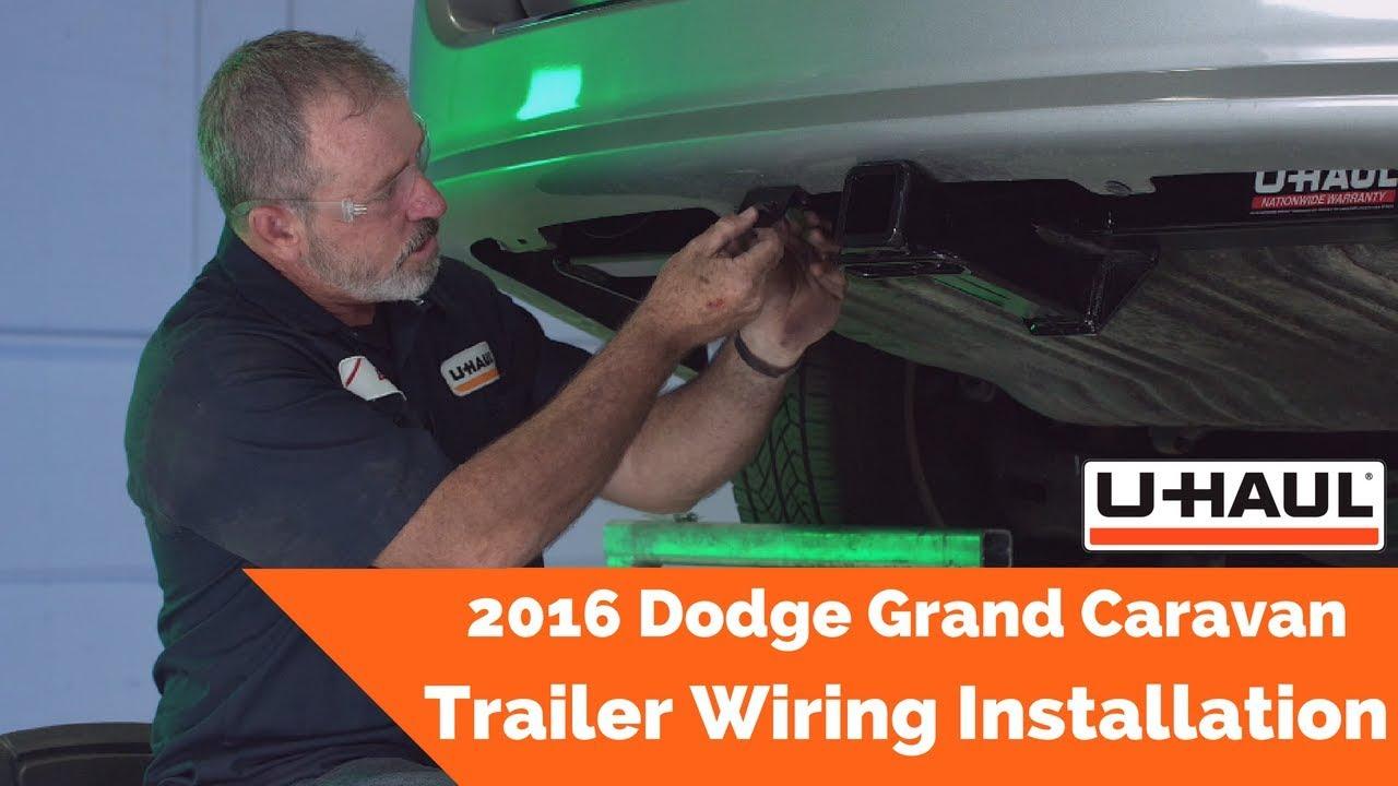 2016 Dodge Grand Caravan Trailer Wiring Installation Youtube