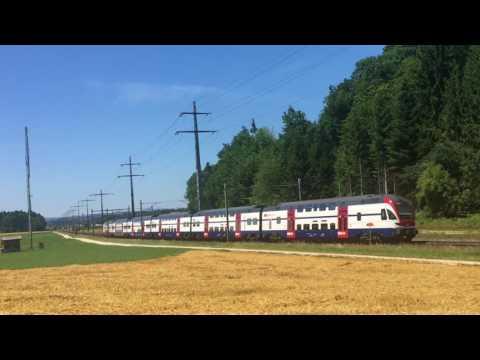 Trains entre Lyssach et Hindelbank, le 6 juillet 2017 - Transports Publics Suisses