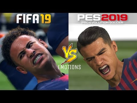FIFA 19 Vs. PES 2019 | Realism | Celebrations & Facial Expressions | Gameplay Comparison