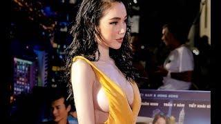 Elly Trần thả vòng một tại event