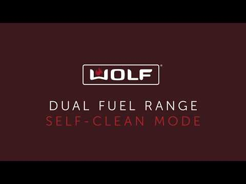 Wolf Dual Fuel Range - Self-Clean Mode