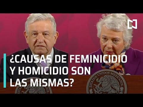 AMLO dice que causas de feminicidios y homicidios son las mismas - En Punto