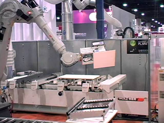 Robotic automation from Holz-Her at IWF show in 2008