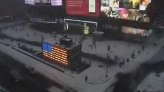 Times Square snow time lapse     01:18
