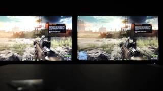 battlefield 4 3840 2160 4k on duplicated monitors samsung u28d590d left vs aoc u2868pqu right