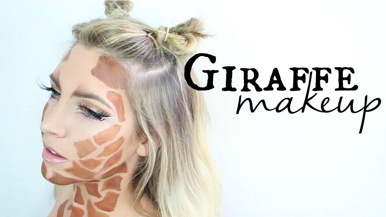Cute Giraffe Makeup Tutorial | Halloween - YouTube