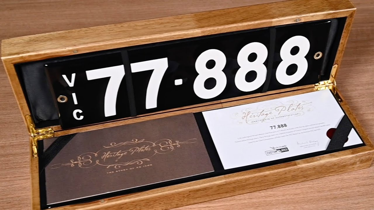 Victorian Heritage Number Plates - 2020 Shannons Autumn Timed Online Auction