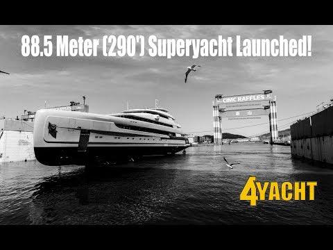 BILLIONAIRE $145 MILLION 88.5 Meter (290') Superyacht Illusion Plus Launched