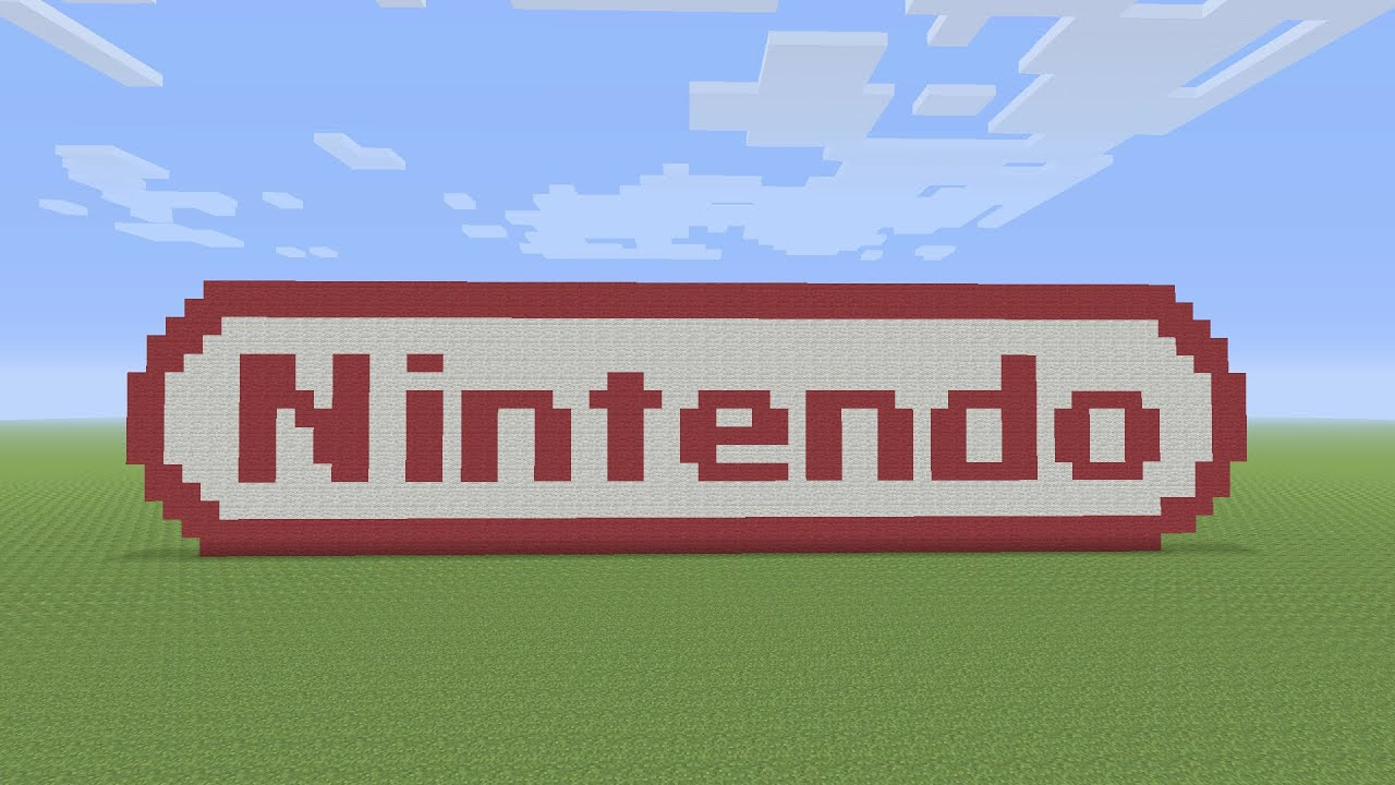 Minecraft Pixel Art Nintendo Logo