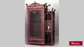 Antique Bamboo (English Victorian) single glass door armoire