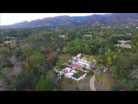"AERIAL ""El Fureidis"" The SCARFACE Movie Mansion-Santa Barbara,Ca. Inspire 1 4K HD"