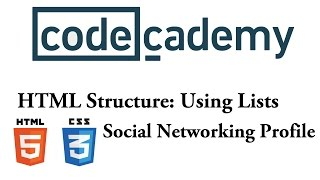 HTML Structure: Social Networking Profile