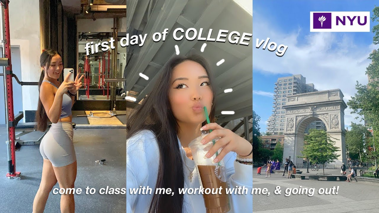 first day of college VLOG | classes, workout with me, & going out with friends!