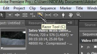 Adobe Premier Pro CS5 Tutorials - How To Cut and Shorten Videos