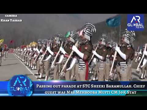 Passing out parade at STC Sheeri Baramullah. Chief guest was Mrs Mehbooba Mufti CM J&K State