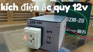 Kích điện 12v chạy cho thiết bị điện tử(không chạy quạt và động cơ)