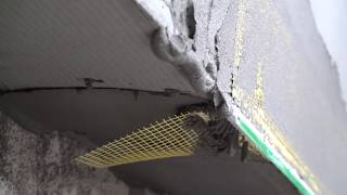 Как правильно обработать нижний край системы фасадного утепления EIFS Ceresit, установка капельника