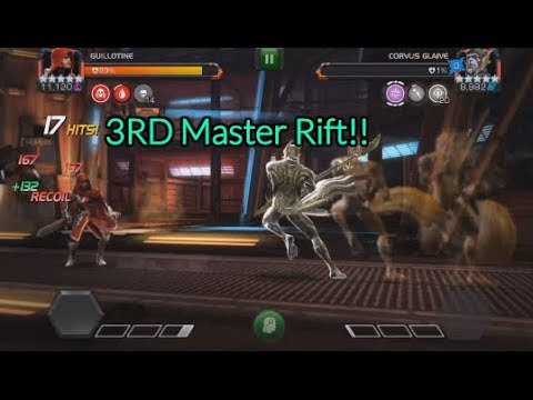 3rd Master Chaos Rift!! And 5 star Crystal | Marvel Contest Of Champions