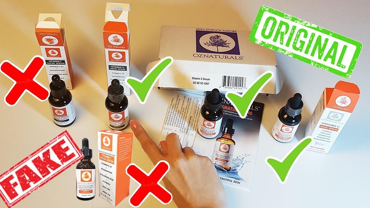 سيروم فيتامين سي اوز ناتشورال الاصلي والتقليد Oz Naturals Vitamin C Serum Real Vs Fake Youtube