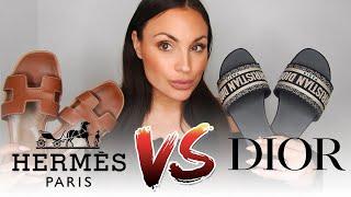 HERMES ORAN SANDALS VS DIOR DWAY SANDALS // REVIEW // COMPARISON