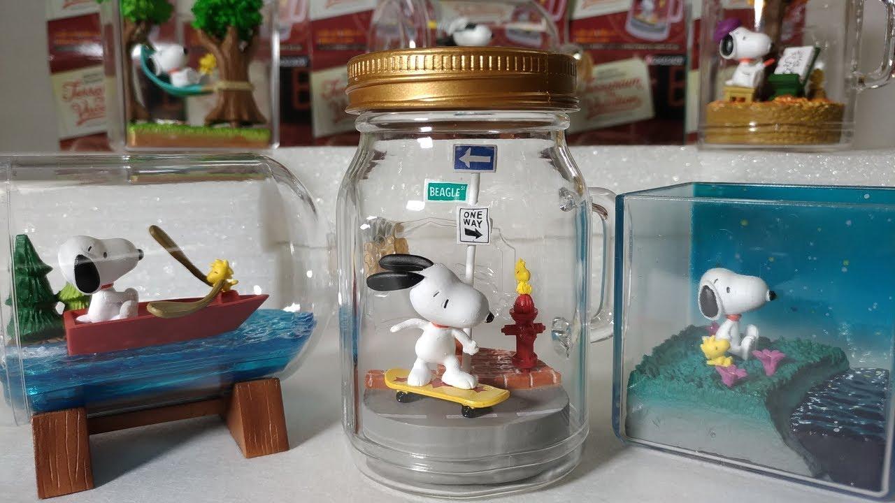 Re-Ment Miniature Snoopy /& Woodstock Peanuts Terrarium On Vacation No.02