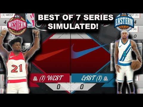 2018 NBA ALL STAR TEAMS (East VS West) Best of 7 Series Simulation on NBAK2K17