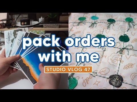 Studio Vlog 47 ✿ packing orders from 7.7 shop sale + patreon ✿ Philippines