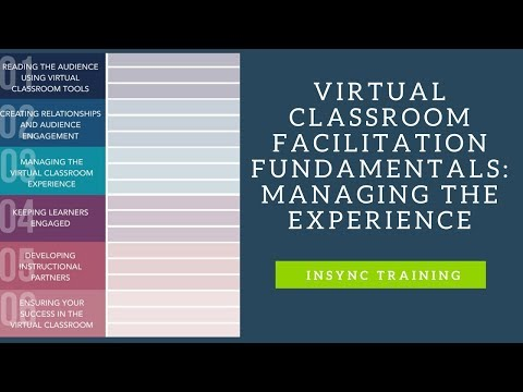 Virtual Classroom Facilitation Fundamentals: Managing the Experience