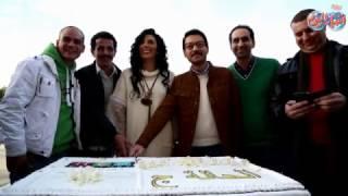 أخبار اليوم |  حورية فرغلي  وأحمد زاهر يحتفلان بأول أيام تصوير