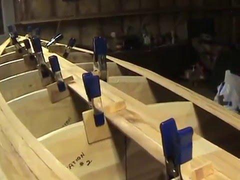 Canoe building bottom strips
