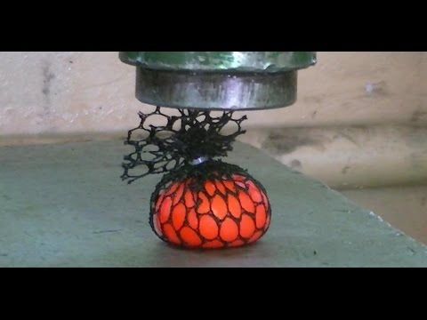 Anti-stress ball vs Hydraulic Press