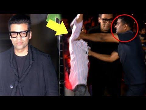 Karan Johar's Bodyguard ATTACK A Fan For Touching Him While Taking Selfie Mp3