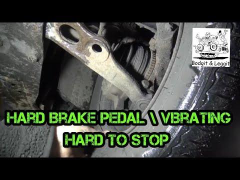 Renault Dispatch Hard Brake Pedal/Vibrating/Hard To Stop Bodgit And Leggit Garage