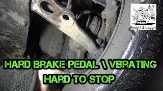 Citroen Dispatch Hard Brake Pedal/Vibrating/Hard To Stop Bodgit And Leggit Garage