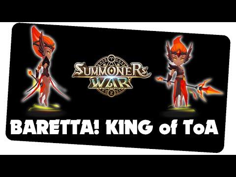 KING of ToA! Baretta - Feuer Sylphe || Summoners War [German/Deutsch iOS Android APP]