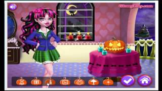 Draculaura Halloween Decorations Cartoon Video Game For Kids