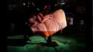 Drunk girls riding the Bull in Rosarito Panty Thong Show