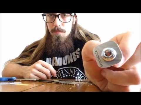 easy diy guitar strap locks youtube. Black Bedroom Furniture Sets. Home Design Ideas