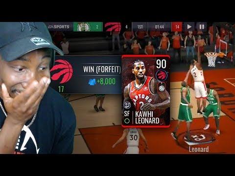 90 OVR KAWHI LEONARD CAUSES RAGE QUIT! NBA Live Mobile 19 Season 3 Ep. 23