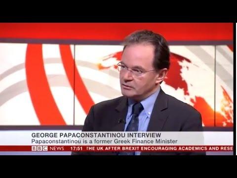 George Papaconstantinou on BBC News - 21.2.2017