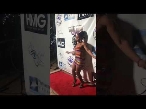 Tangie Ambrose wearing Gigi Hunter design at Roll Out Live!!!