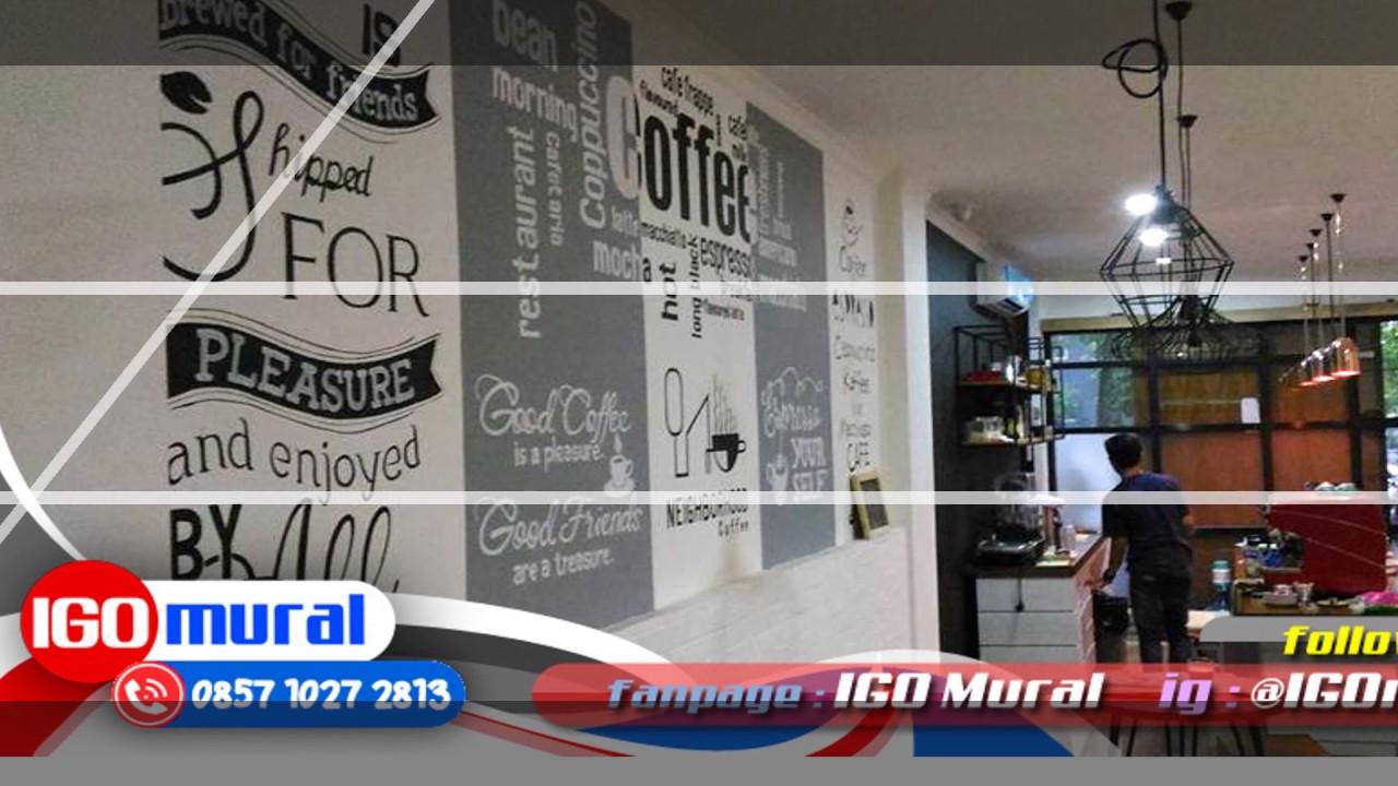 Lukisan Dinding Murah Lukisan Dinding Cafe Hitam Putih WA 62