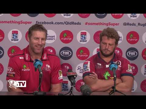St.George Queensland Reds v Brumbies Post match press conference