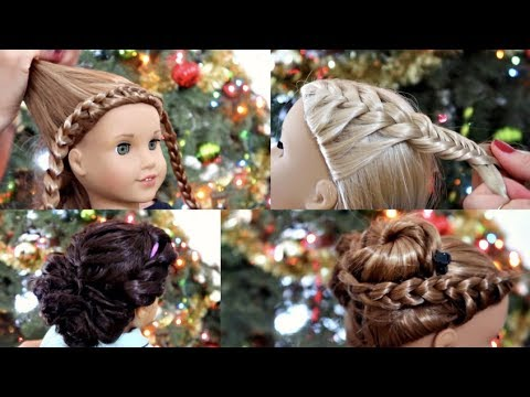American Girl Doll Holiday Hairstyles! ❄ 2017
