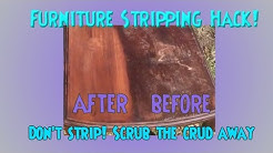 Furniture Stripping HACK! NEW Technique Cleaning & Stripping Wood! REMOVE WAX BUILD UP!