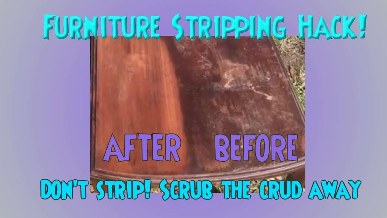 Furniture Stripping Hack New Technique Cleaning Wood