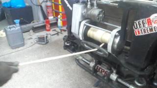 Hydraulic winch hydropower of road